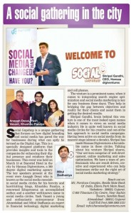 Speaker at Social Gupshup event, Ahmedabad. Coverage by Times of India